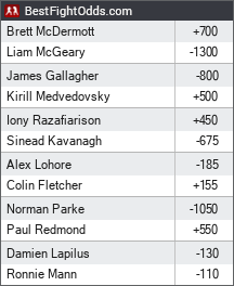Bellator 173: McGeary vs. McDermott odds - BestFightOdds